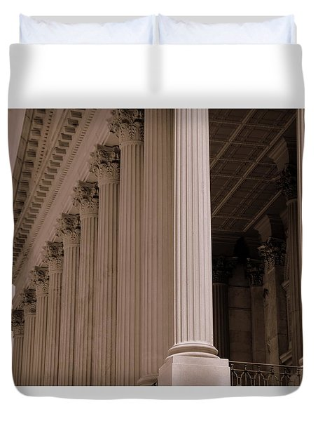 South Carolina State House Columns  Duvet Cover