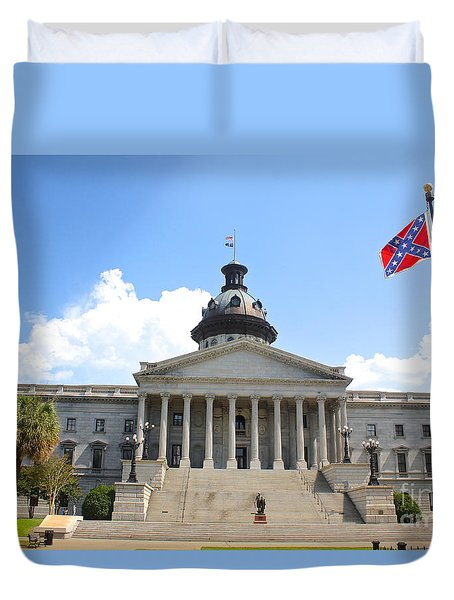 Duvet Cover featuring the photograph South Carolina State House June 26 A by Joseph C Hinson Photography