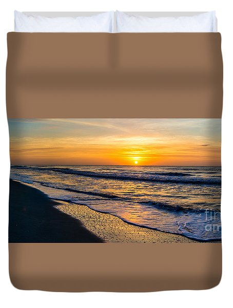 South Carolina Sunrise Duvet Cover by David Smith