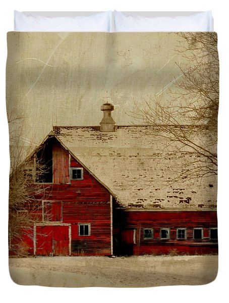 South Dakota Barn Duvet Cover by Julie Hamilton