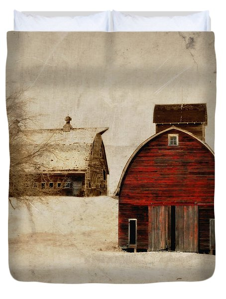 South Dakota Corn Crib Duvet Cover
