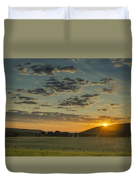 South Dakota Sunset Duvet Cover