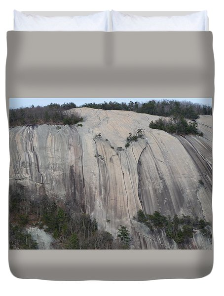 South Face - Stone Mountain Duvet Cover by Joel Deutsch