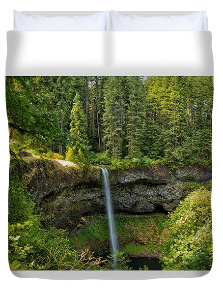 Duvet Cover featuring the photograph South Falls 0417 by Tom Kelly