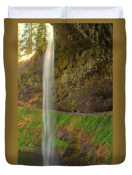 Duvet Cover featuring the photograph South Falls 0448 by Tom Kelly