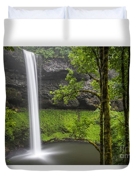 South Falls In Silver Falls State Park Duvet Cover