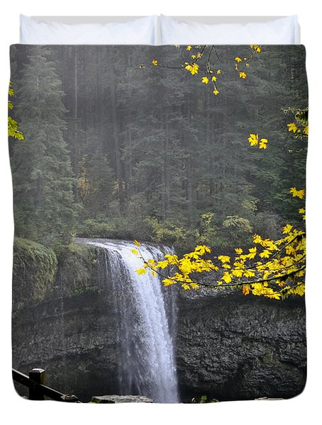 South Falls Of Silver Creek Duvet Cover