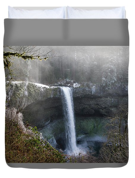 South Falls Shroud Duvet Cover