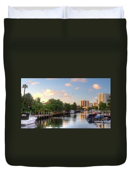South Florida Canal Living Duvet Cover
