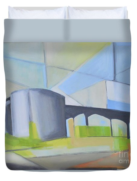 South Hackensack Tanks Duvet Cover by Ron Erickson