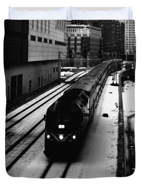 South Loop Railroad Duvet Cover