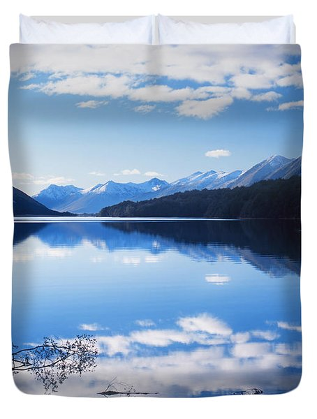 South Mavora Lake, New Zealand Duvet Cover