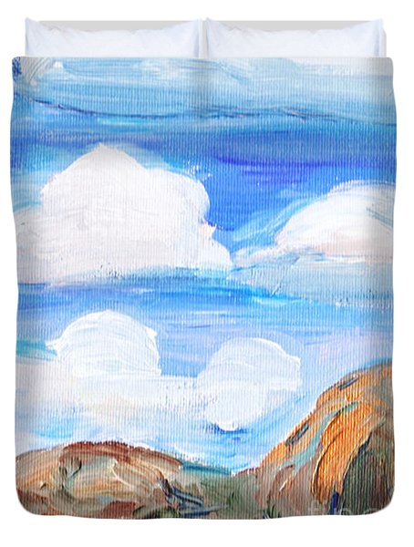 South Morro Bay View To North Duvet Cover