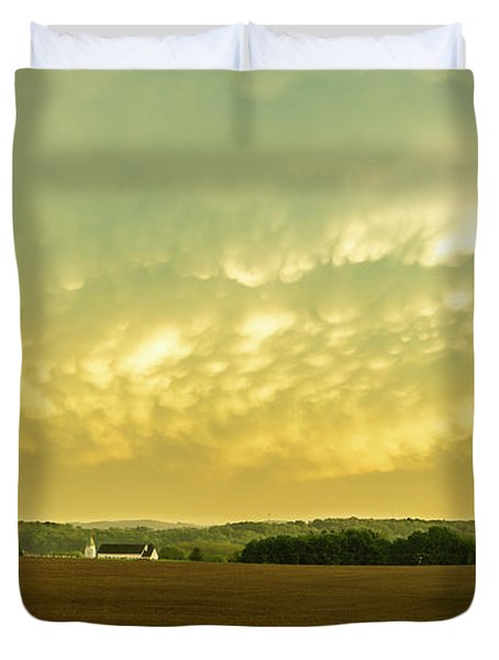Thunder Storm Over A Pennsylvania Farm Duvet Cover