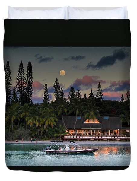 South Pacific Moonrise Duvet Cover