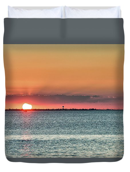 South Padre Island Sunset Duvet Cover