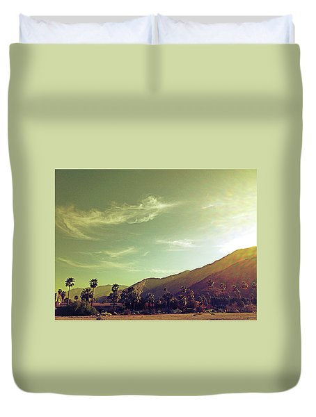 South Palm Springs California Duvet Cover