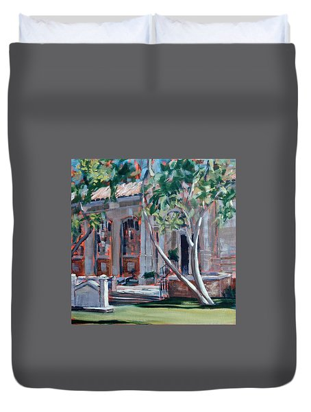 South Pasadena Library Duvet Cover