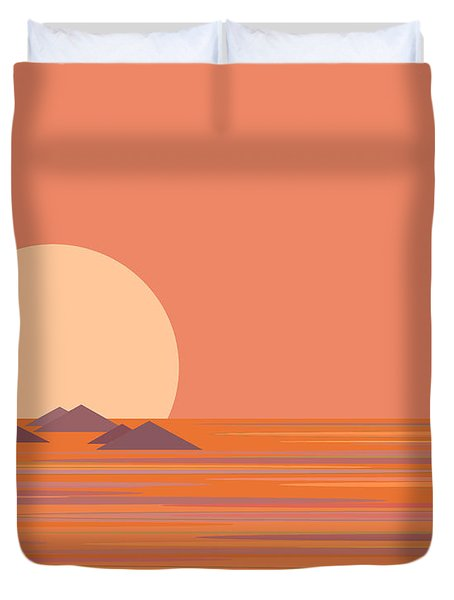 Duvet Cover featuring the digital art South Sea by Val Arie