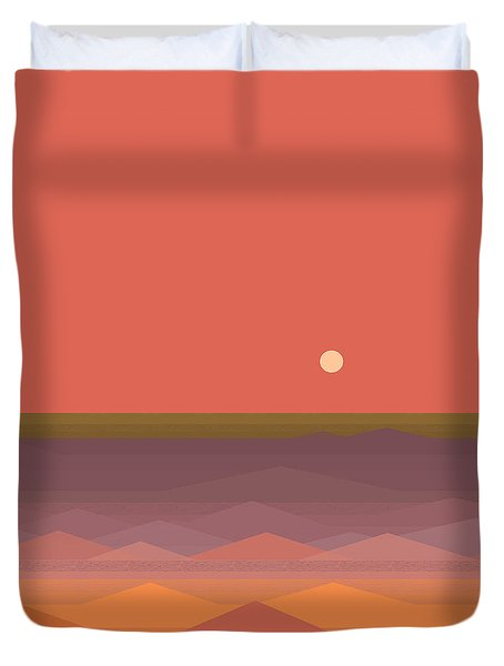 Duvet Cover featuring the digital art South Seas Abstract by Val Arie