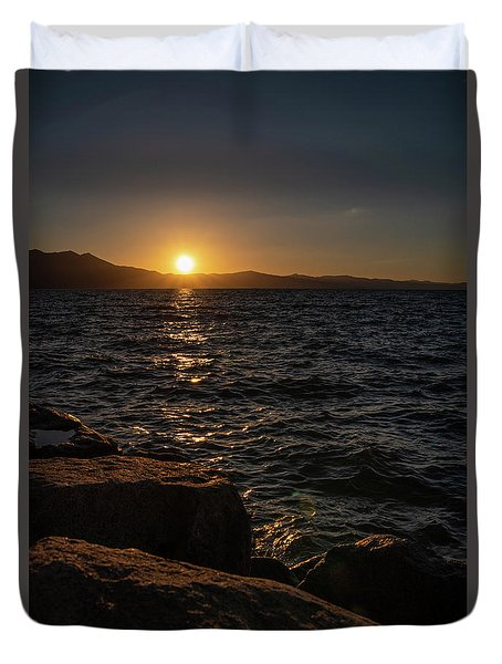 South Shore Sunset Duvet Cover