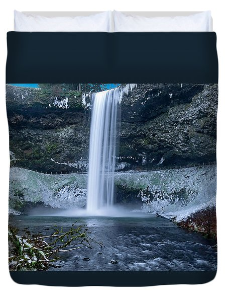 South Silver Falls Duvet Cover