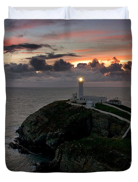 South Stack At Sunset Duvet Cover