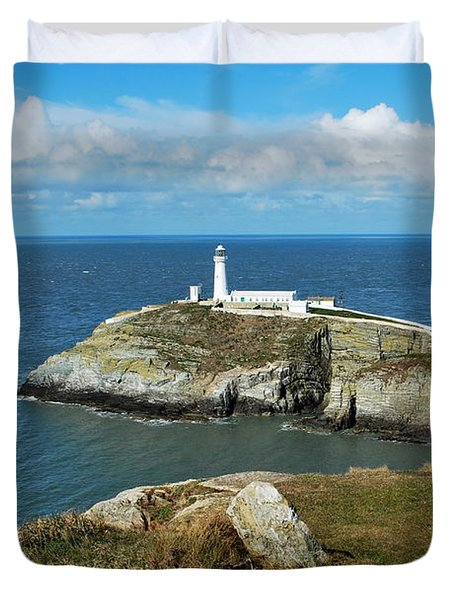 South Stack Light House Duvet Cover