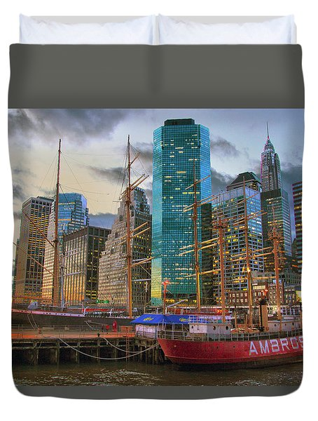 South Street Seaport Duvet Cover