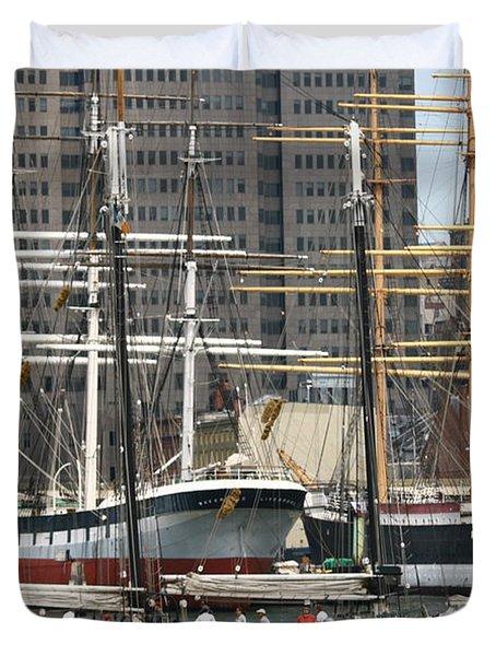 South Street Seaport Pioneer Duvet Cover