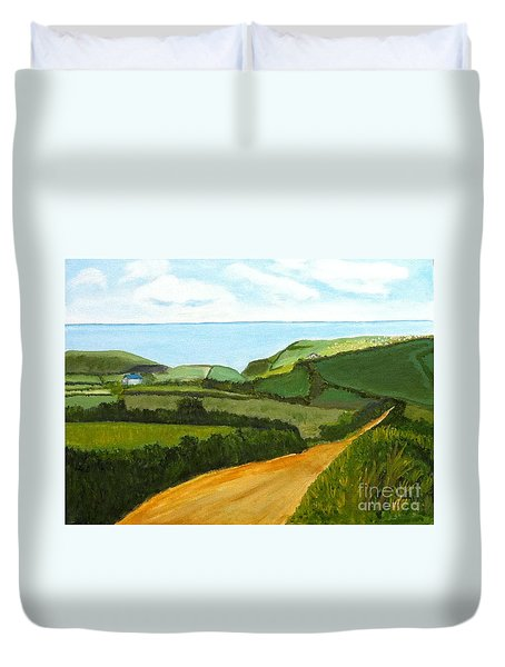 South West England Countryside Cotswold Area Duvet Cover