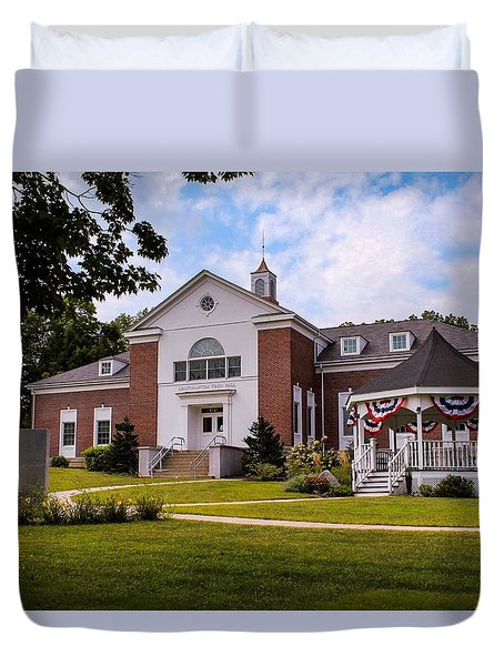 Southampton, Ma Town Hall Duvet Cover