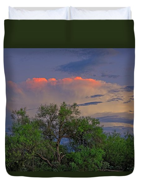 Duvet Cover featuring the photograph Southeast Of Sunset H38 by Mark Myhaver