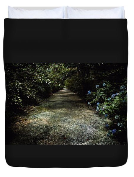Duvet Cover featuring the photograph Southern Blue by Jessica Brawley