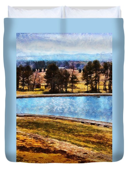 Southern Farmlands Duvet Cover