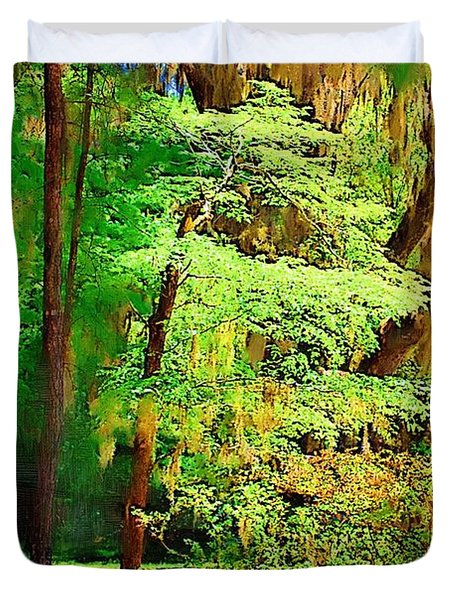 Duvet Cover featuring the photograph Southern Forest by Donna Bentley