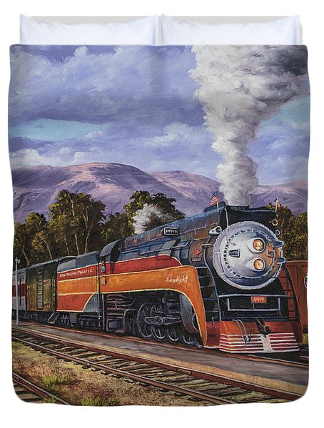 Southern Pacific Daylight Duvet Cover
