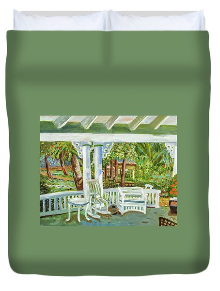 Southern Porches Duvet Cover