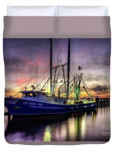 Duvet Cover featuring the photograph Southern Pride by Maddalena McDonald