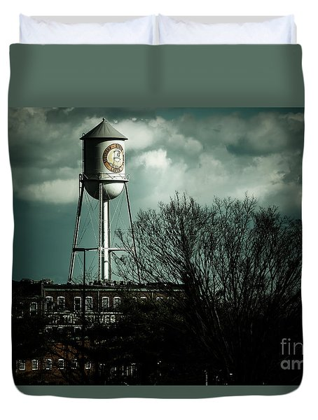Duvet Cover featuring the photograph Southern Stove Company by Melissa Messick