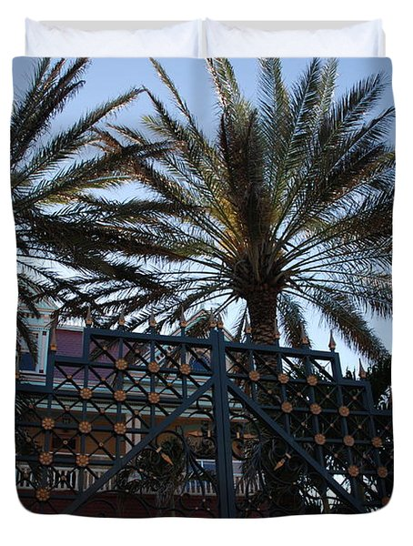 Southernmost Hotel Entrance In Key West Duvet Cover by Susanne Van Hulst