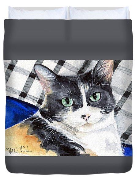 Southpaw - Calico Cat Portrait Duvet Cover