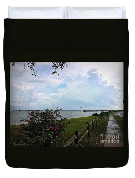 Duvet Cover featuring the painting Southport - After The Rain by Shelia Kempf