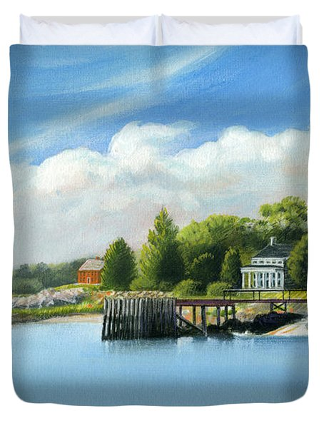 Southport Harbor Duvet Cover