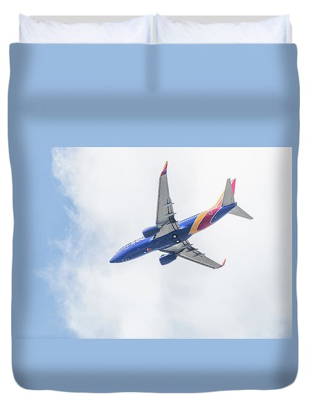 Southwest Airlines With A Heart Duvet Cover