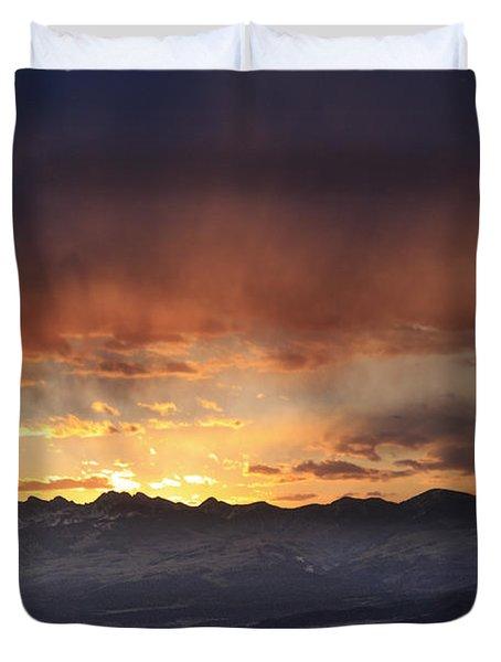 Southwest Colorado Sunset Duvet Cover