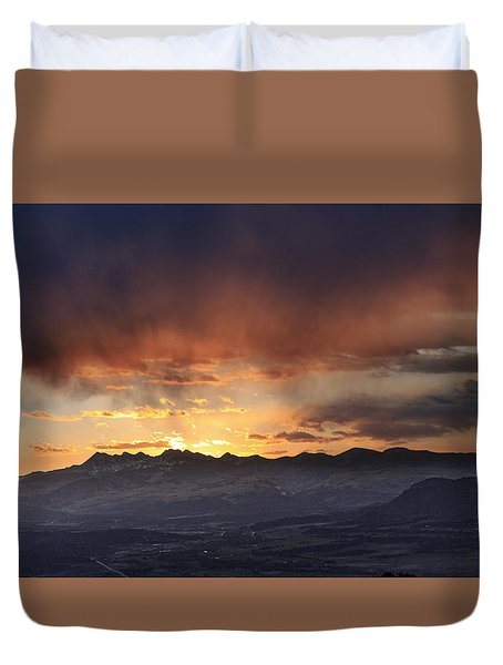 Southwest Colorado Sunset Duvet Cover