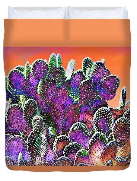 Southwest Desert Cactus Duvet Cover