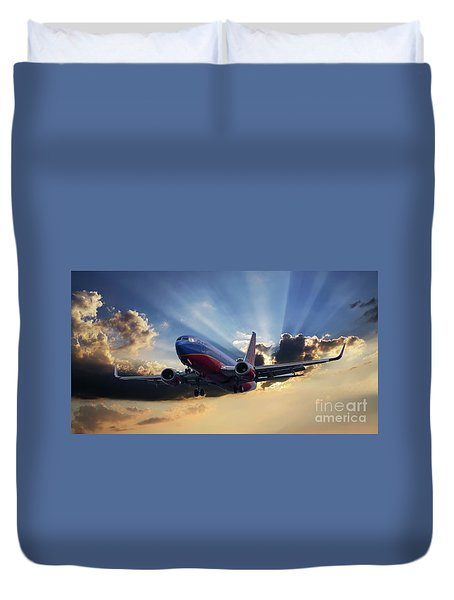 Southwest Dramatic Rays Of Light Duvet Cover