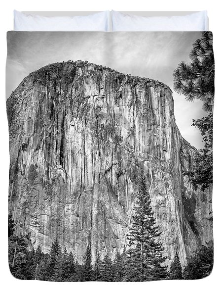 Southwest Face Of El Capitan From Yosemite Valley Duvet Cover